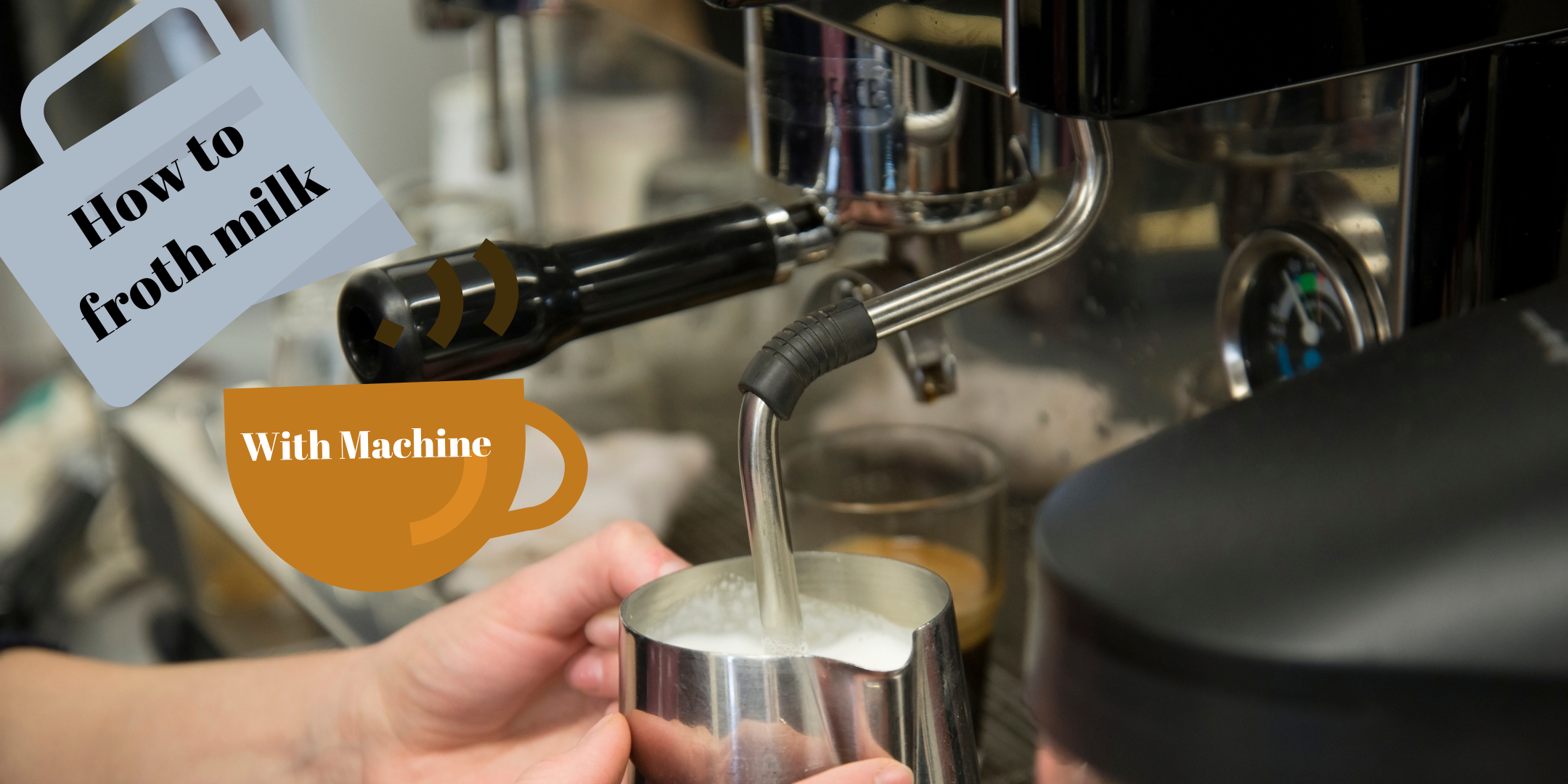 How to froth milk with an espresso machine